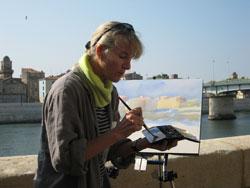 Hazel painting