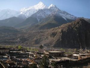 Morning Sun Rises Over Himalaya