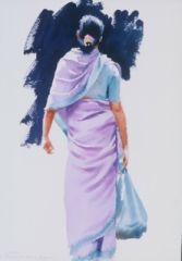 The lilac sari 1