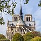Notre Dame cathedral as seen from the back