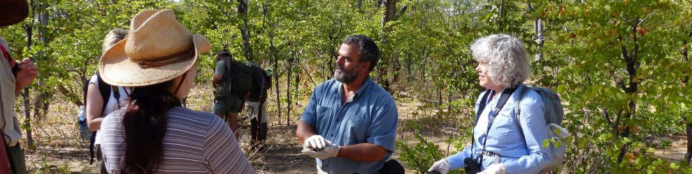 In the field with canid specialist Dr Greg Rasmussen