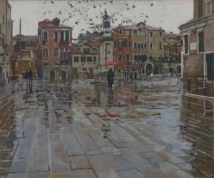 879 Rain Effect S Giovanni E Paolo, Venice
