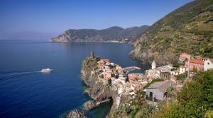 Vernazza village landscape in Cinque Terre, Italy