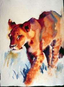 Lion by Hazel Soan
