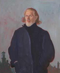 Self portrait of Alexander Goudie - one of Scotland's most famous figurative painters