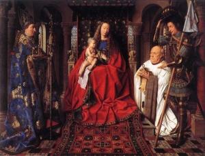 Jan Van Eyck La Madone au Chanoine Van der Paele 1434