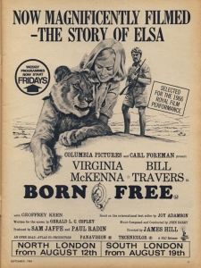 Born Free staring Virginia McKenna revolutionised attitudes to animals