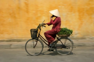Cyclist in Vietnam