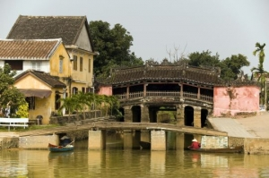 japanese covered bridge hoi an vietnam  indochina