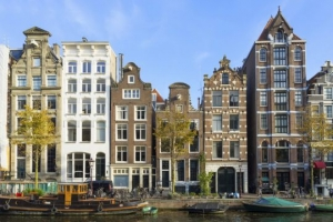 Amsterdam canal houses, Netherlands